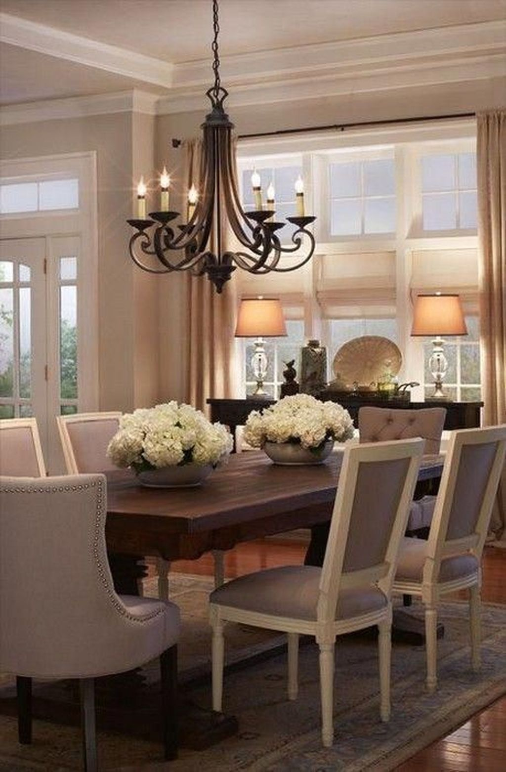 Nice Transitional Dining Room Design Ideas 15