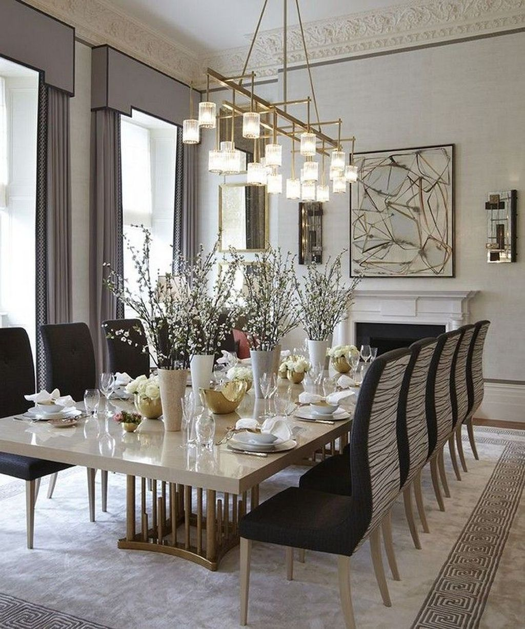 Nice Transitional Dining Room Design Ideas 18
