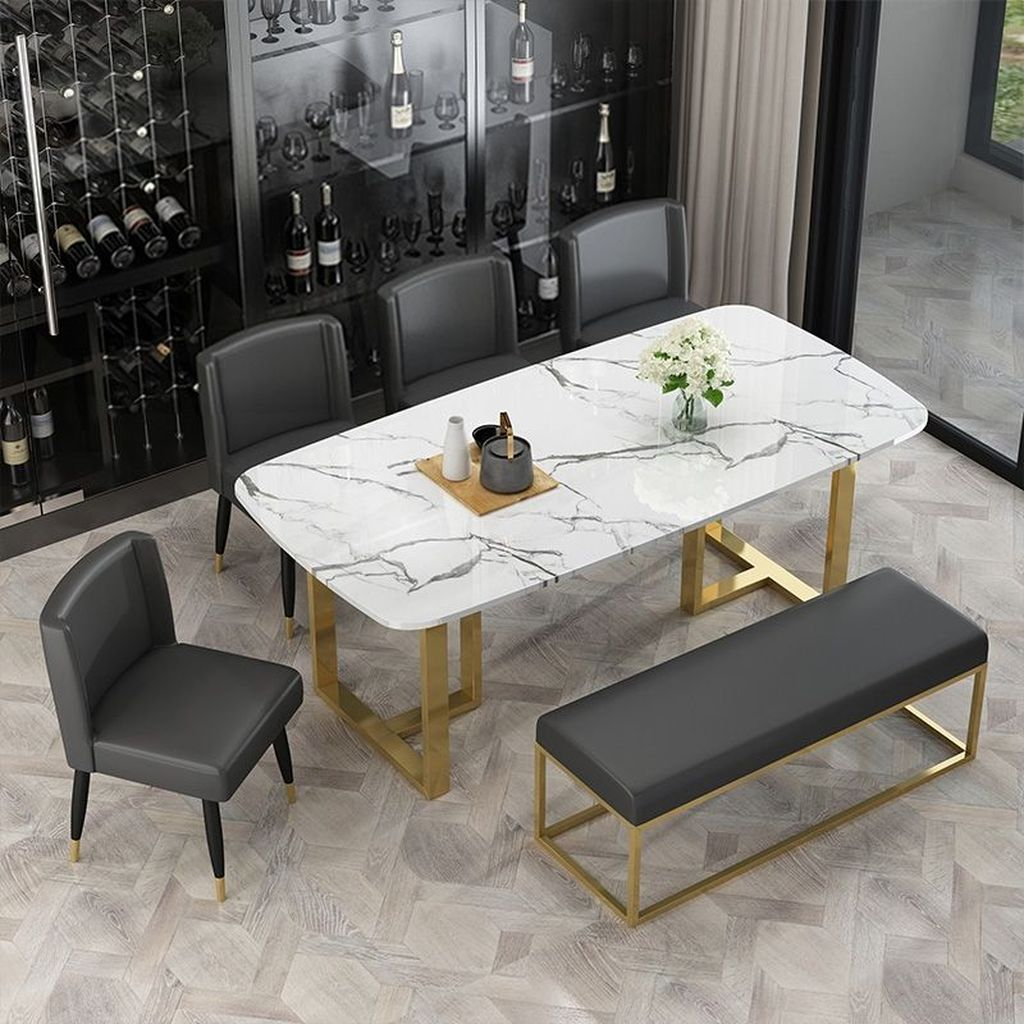 Stunning Dining Room Table Design With Modern Style 01