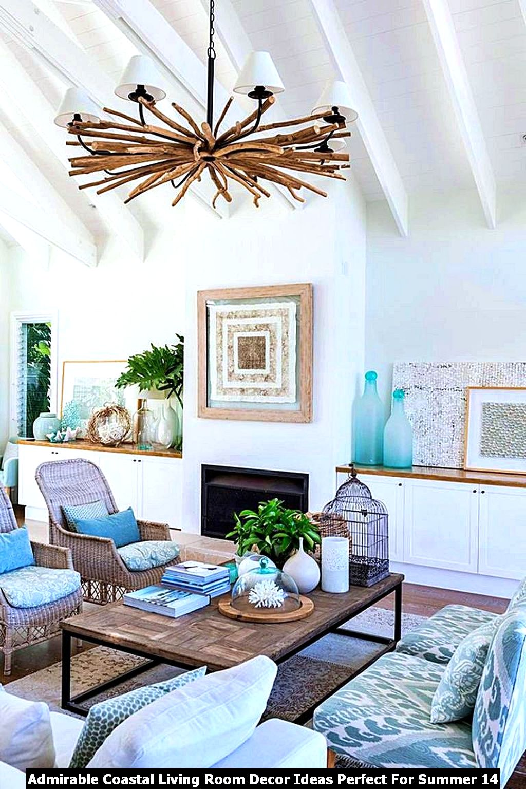 Admirable Coastal Living Room Decor Ideas Perfect For Summer 14