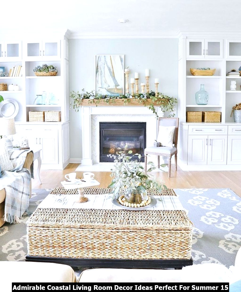 Admirable Coastal Living Room Decor Ideas Perfect For Summer 15