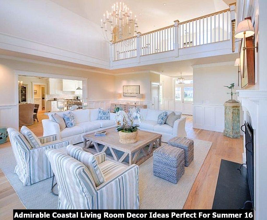Admirable Coastal Living Room Decor Ideas Perfect For Summer 16