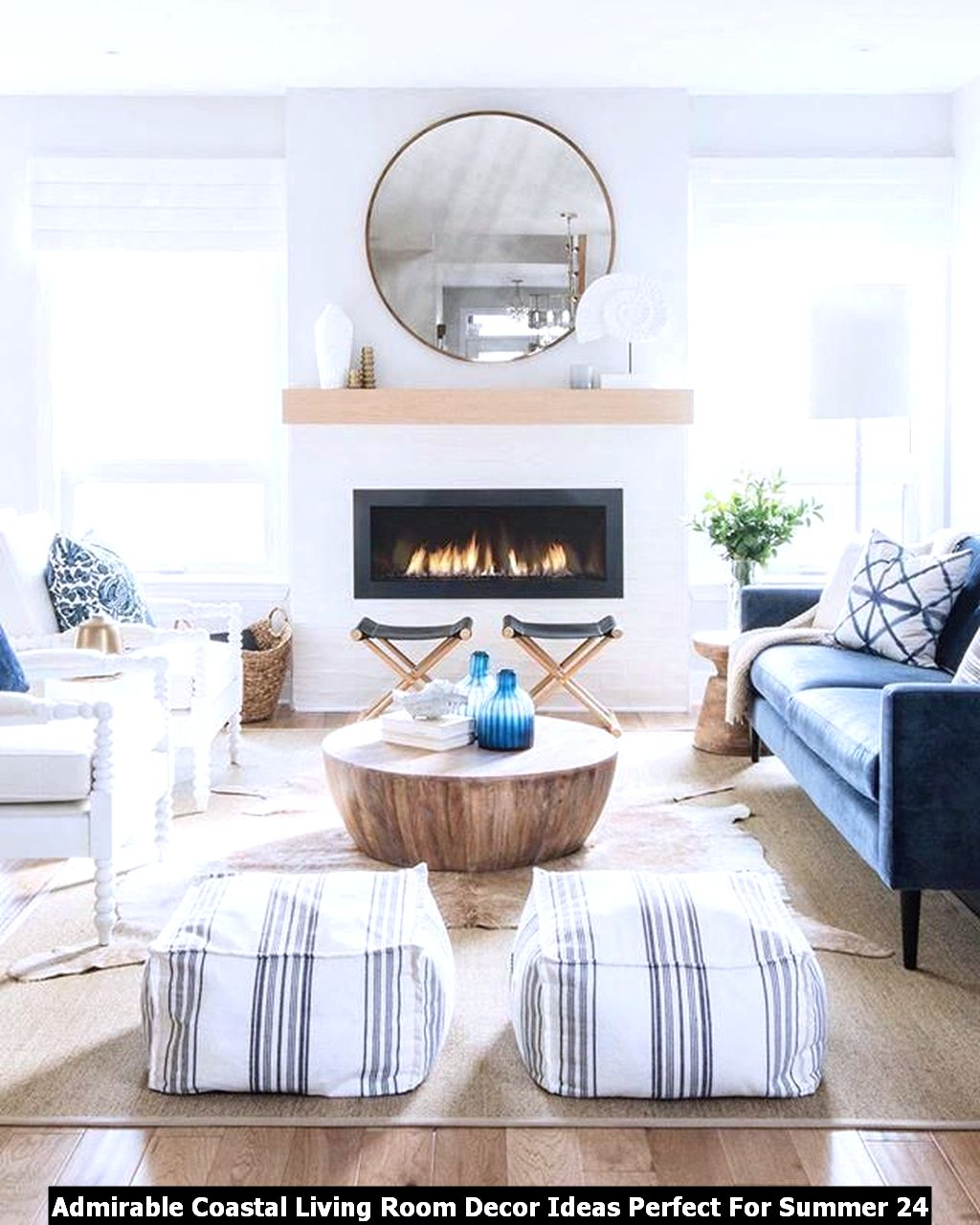 Admirable Coastal Living Room Decor Ideas Perfect For Summer 24