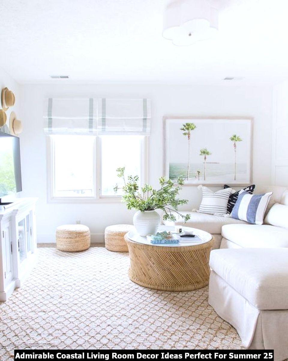 Admirable Coastal Living Room Decor Ideas Perfect For Summer 25