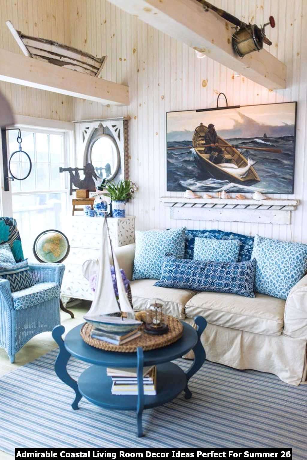 Admirable Coastal Living Room Decor Ideas Perfect For Summer 26