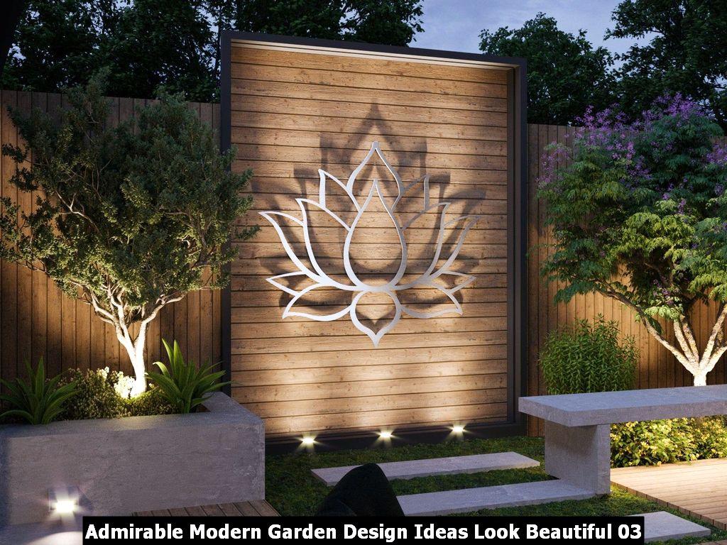Admirable Modern Garden Design Ideas Look Beautiful 03