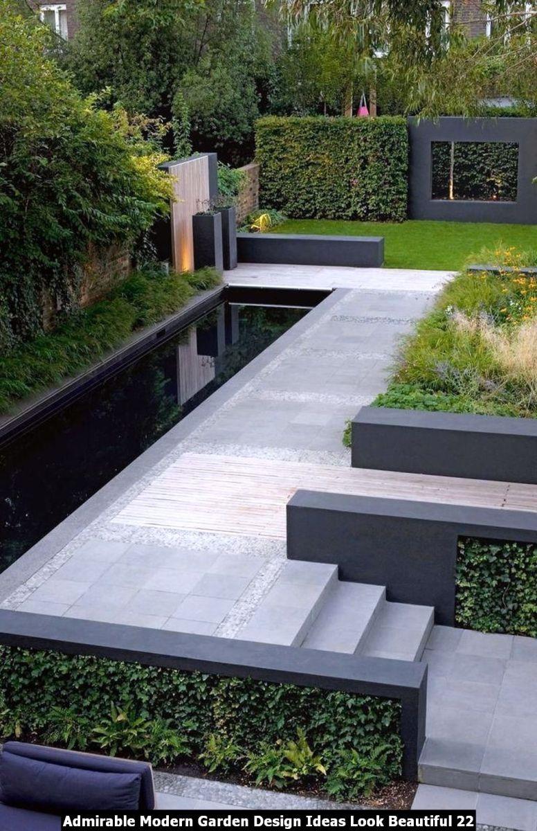 Admirable Modern Garden Design Ideas Look Beautiful 22