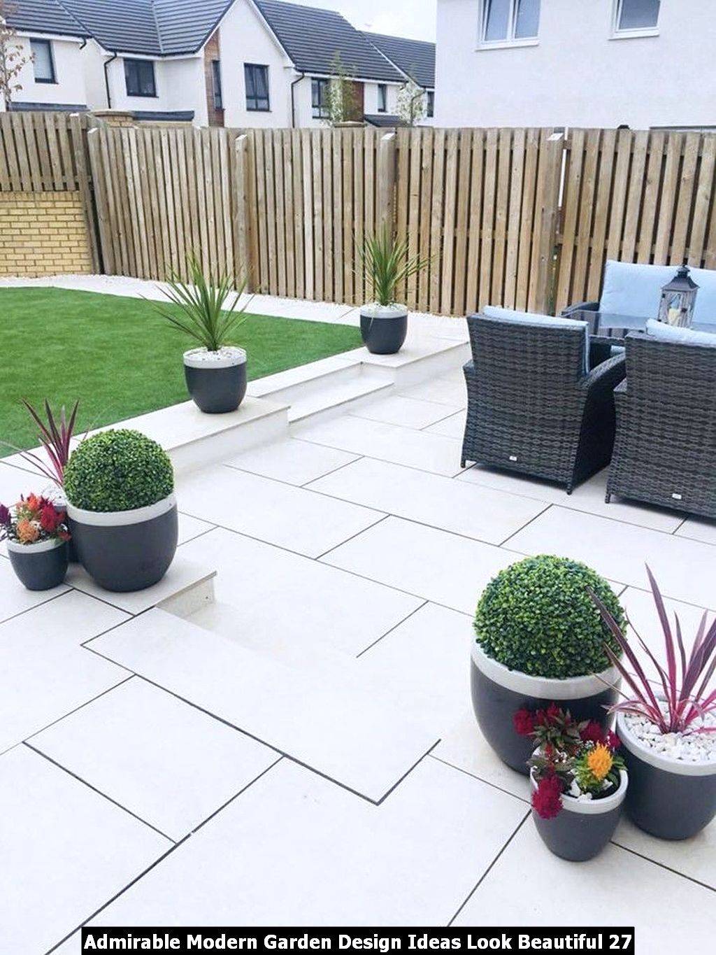 Admirable Modern Garden Design Ideas Look Beautiful 27