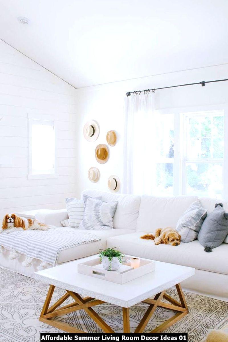 Affordable Summer Living Room Decor Ideas 01