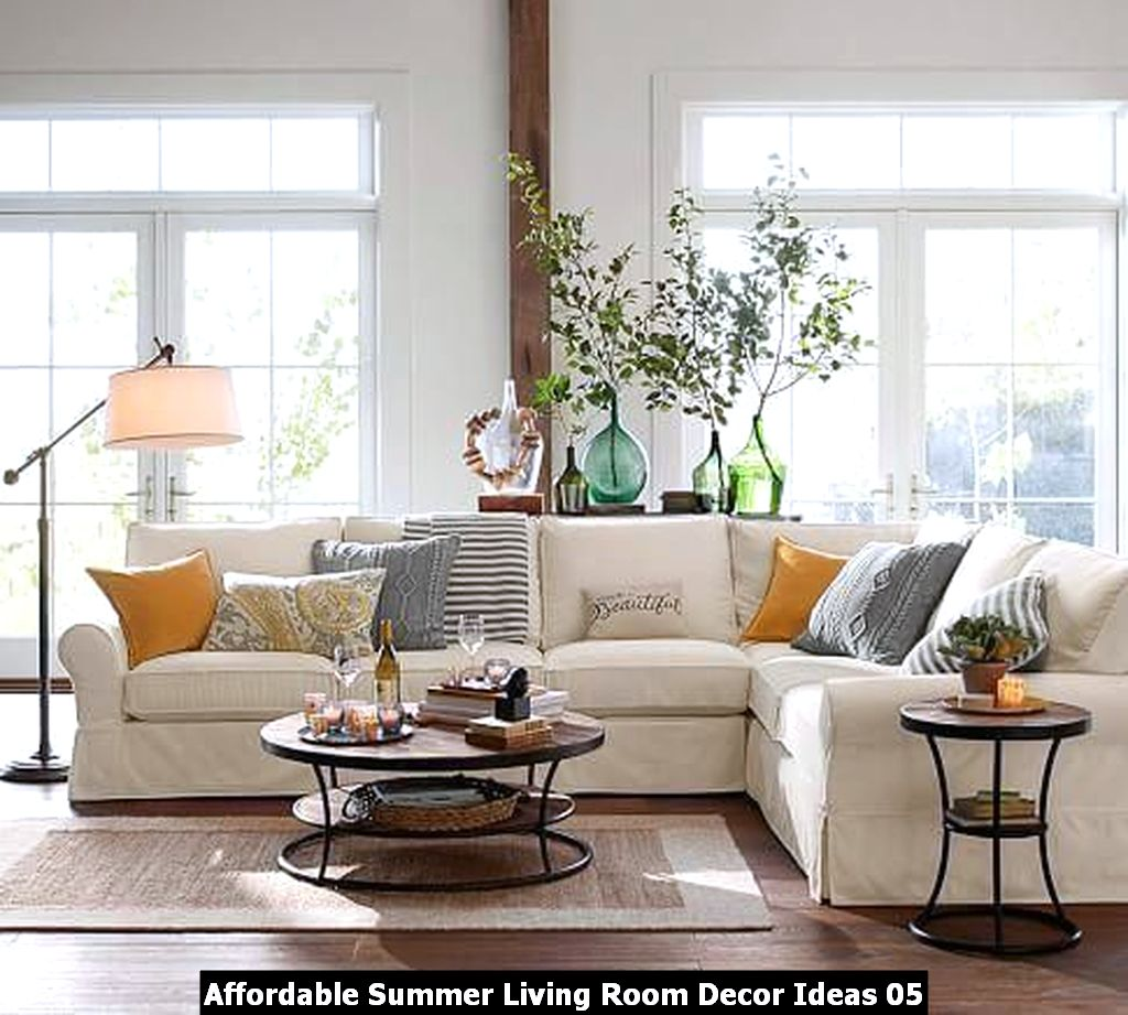 Affordable Summer Living Room Decor Ideas 05