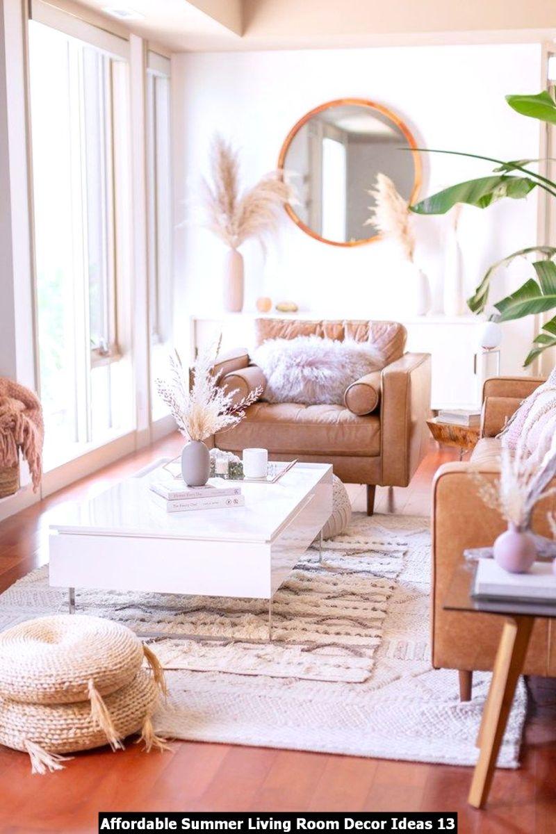 Affordable Summer Living Room Decor Ideas 13