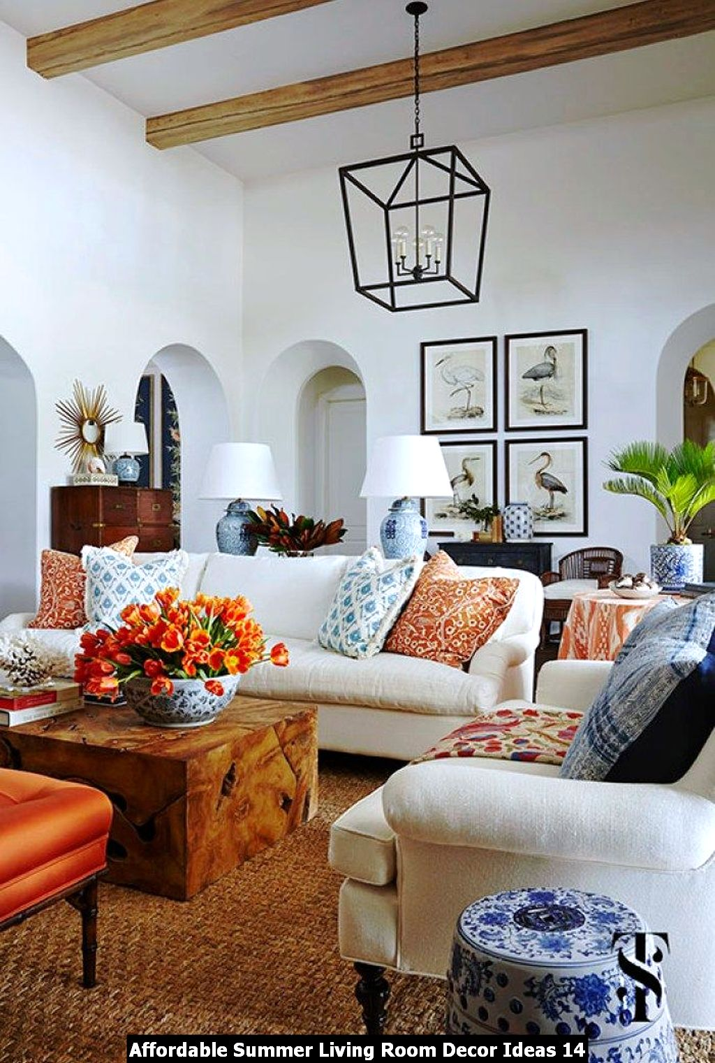 Affordable Summer Living Room Decor Ideas 14