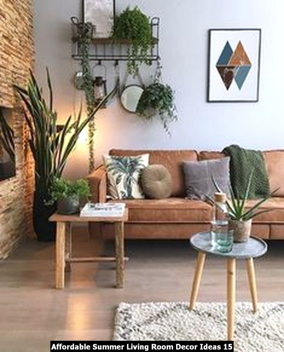 Affordable Summer Living Room Decor Ideas 15
