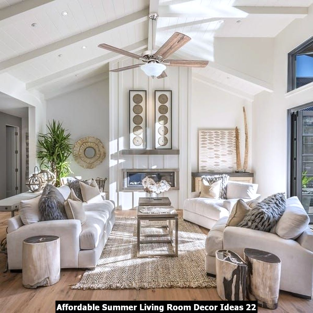 Affordable Summer Living Room Decor Ideas 22