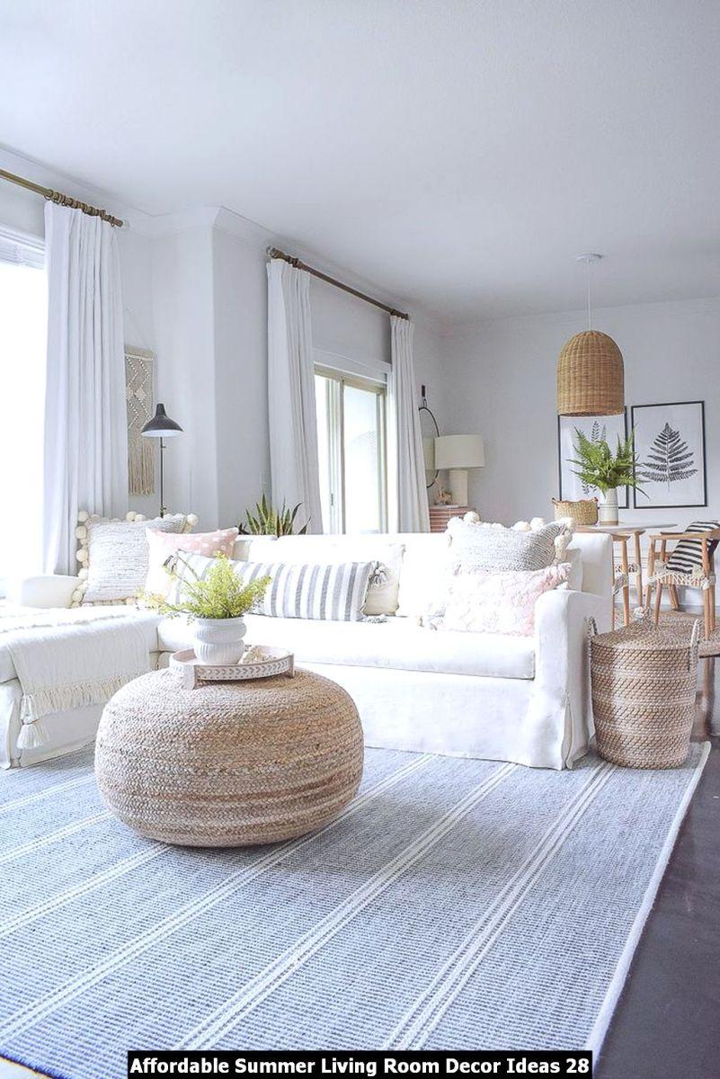 Affordable Summer Living Room Decor Ideas 28