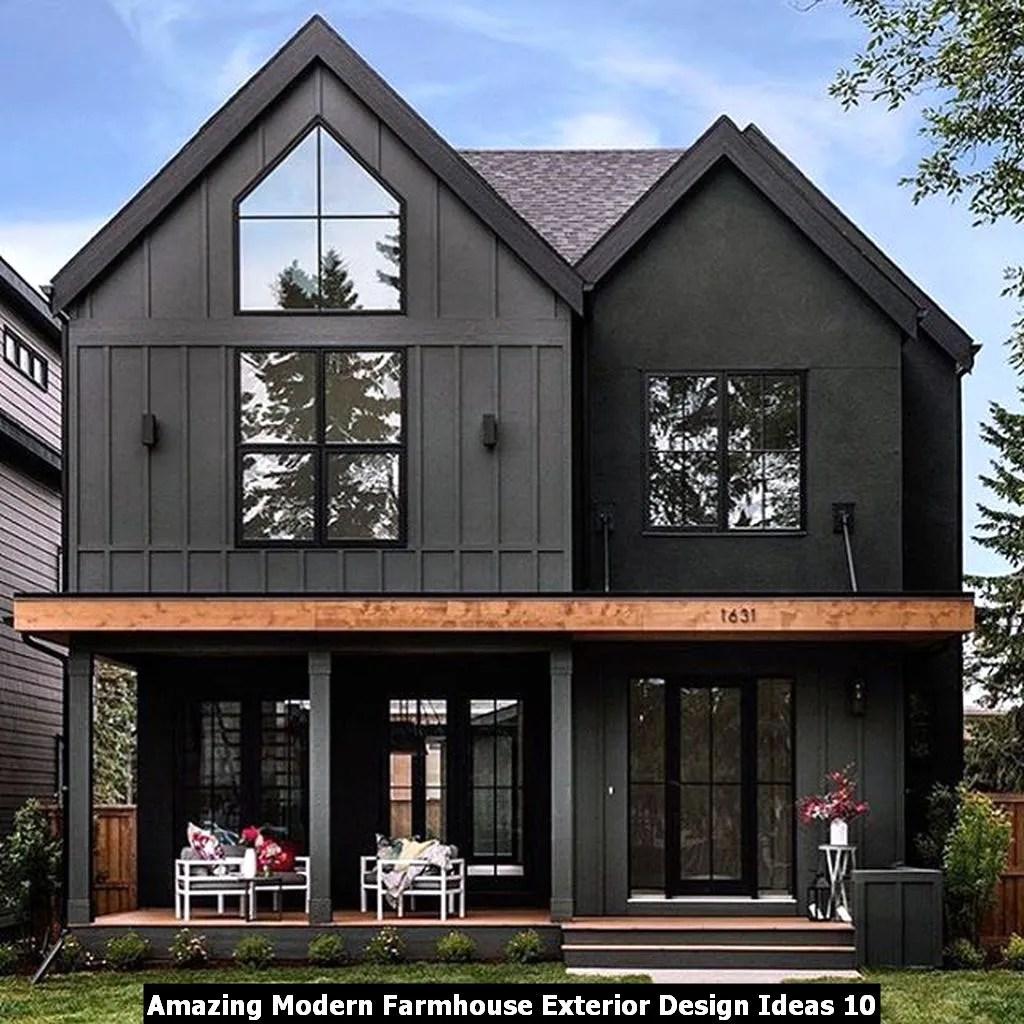 Amazing Modern Farmhouse Exterior Design Ideas 10
