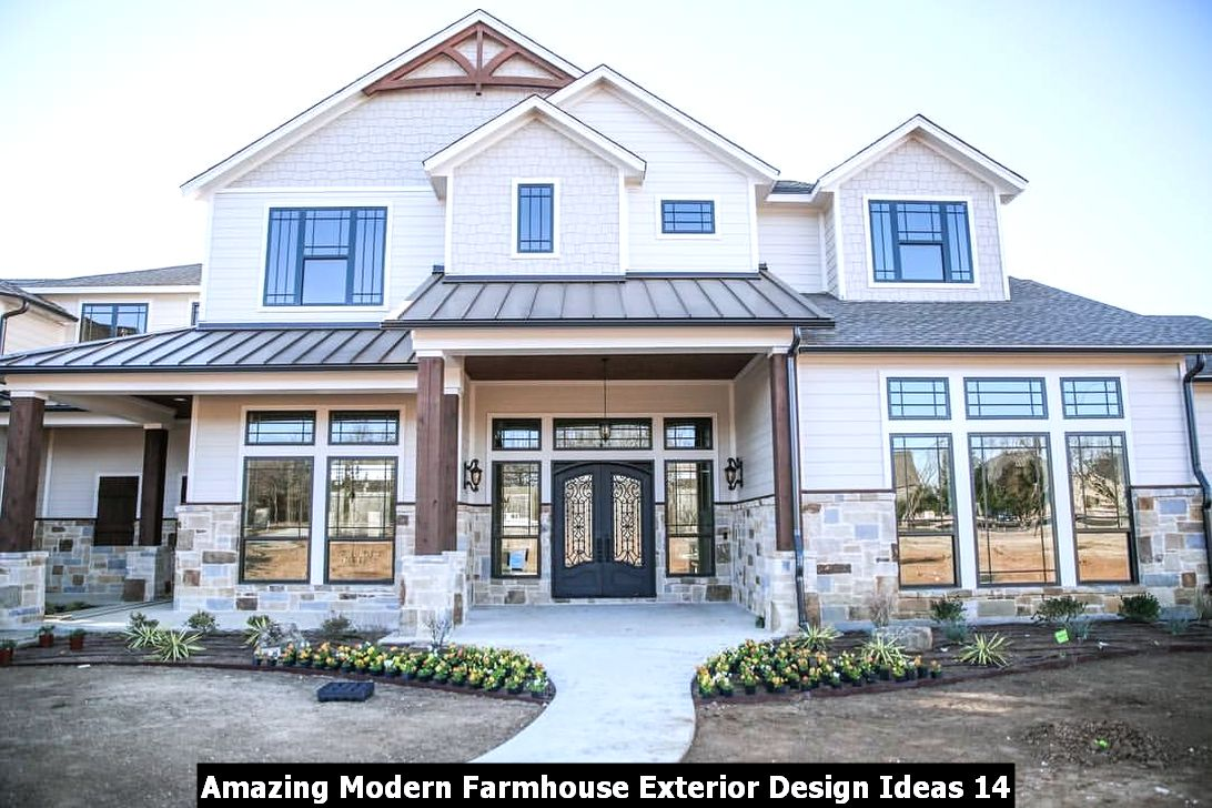 Amazing Modern Farmhouse Exterior Design Ideas 14