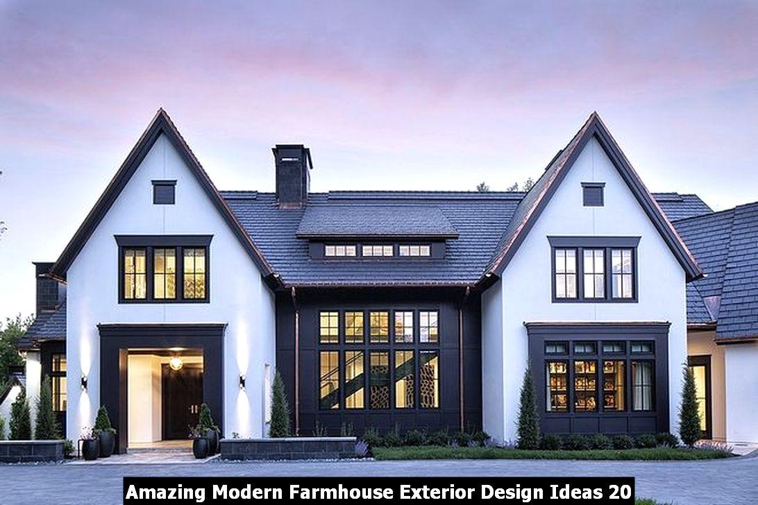 Amazing Modern Farmhouse Exterior Design Ideas 20