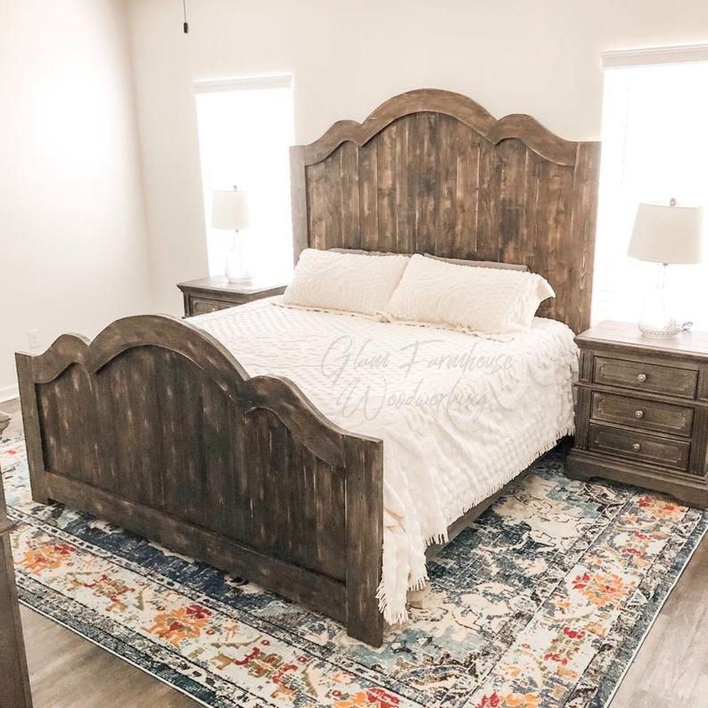 Amazing Vintage Wooden Bed Frame Design Ideas 11