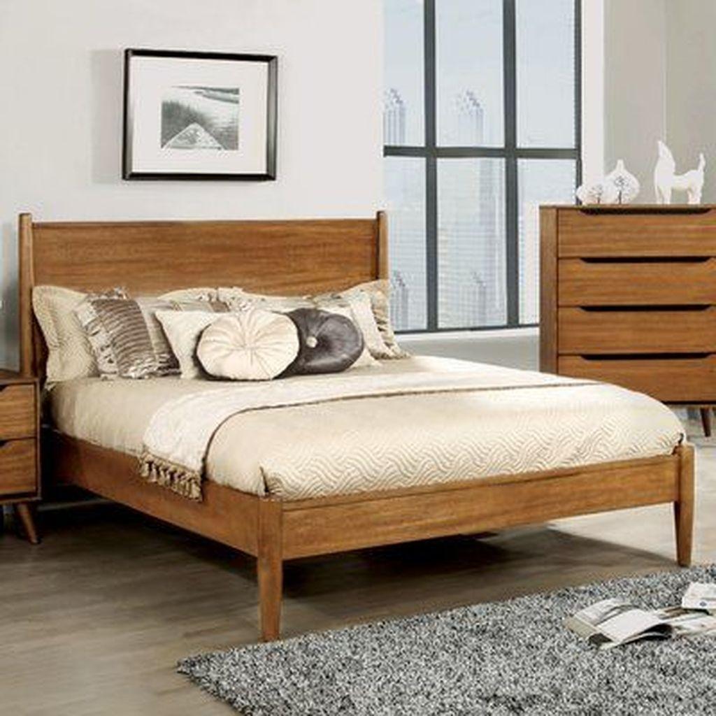 Amazing Vintage Wooden Bed Frame Design Ideas 14