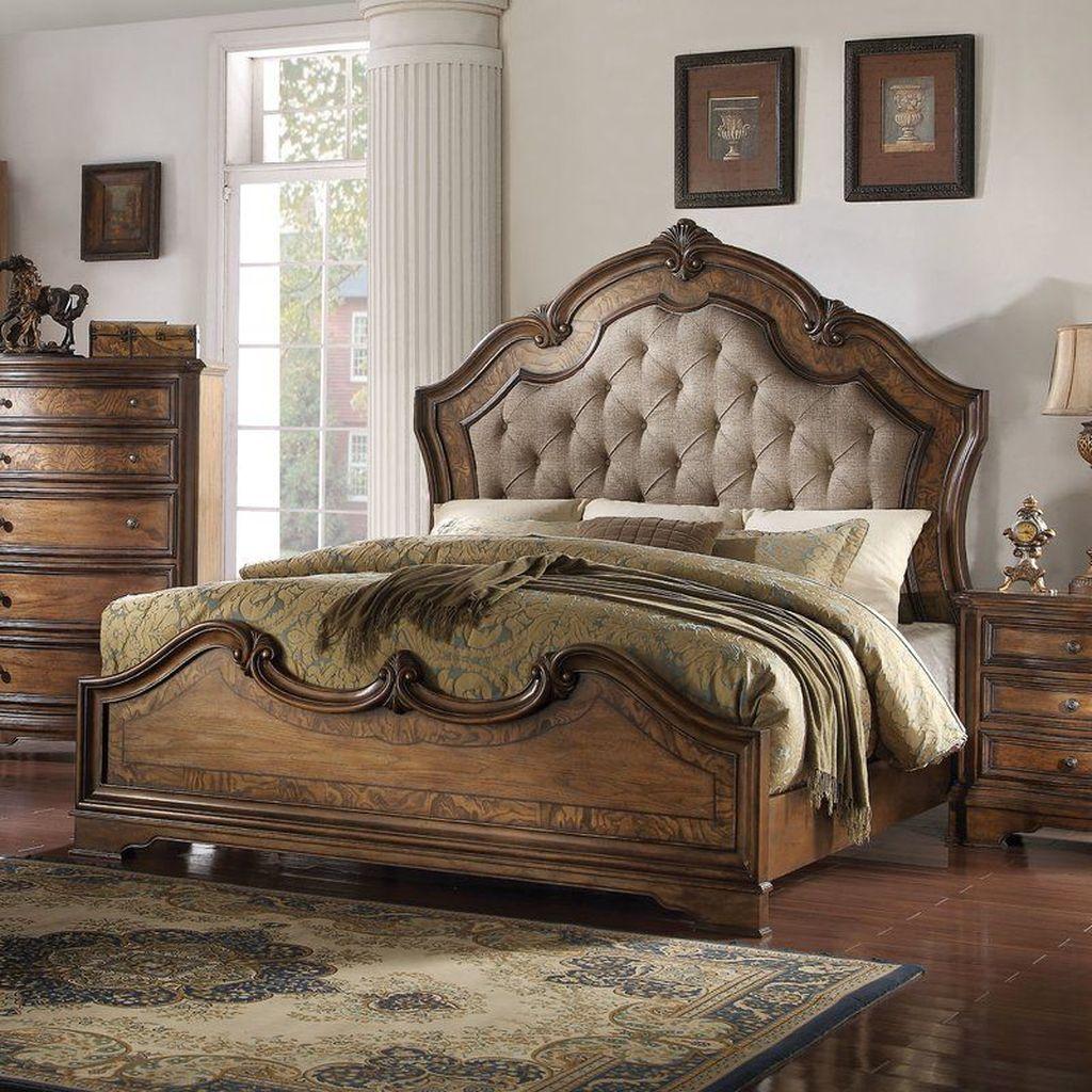 Amazing Vintage Wooden Bed Frame Design Ideas 19
