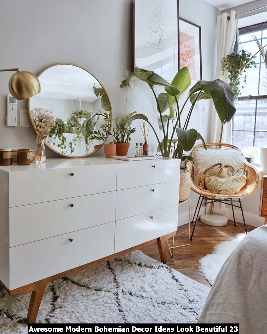 Awesome Modern Bohemian Decor Ideas Look Beautiful 23