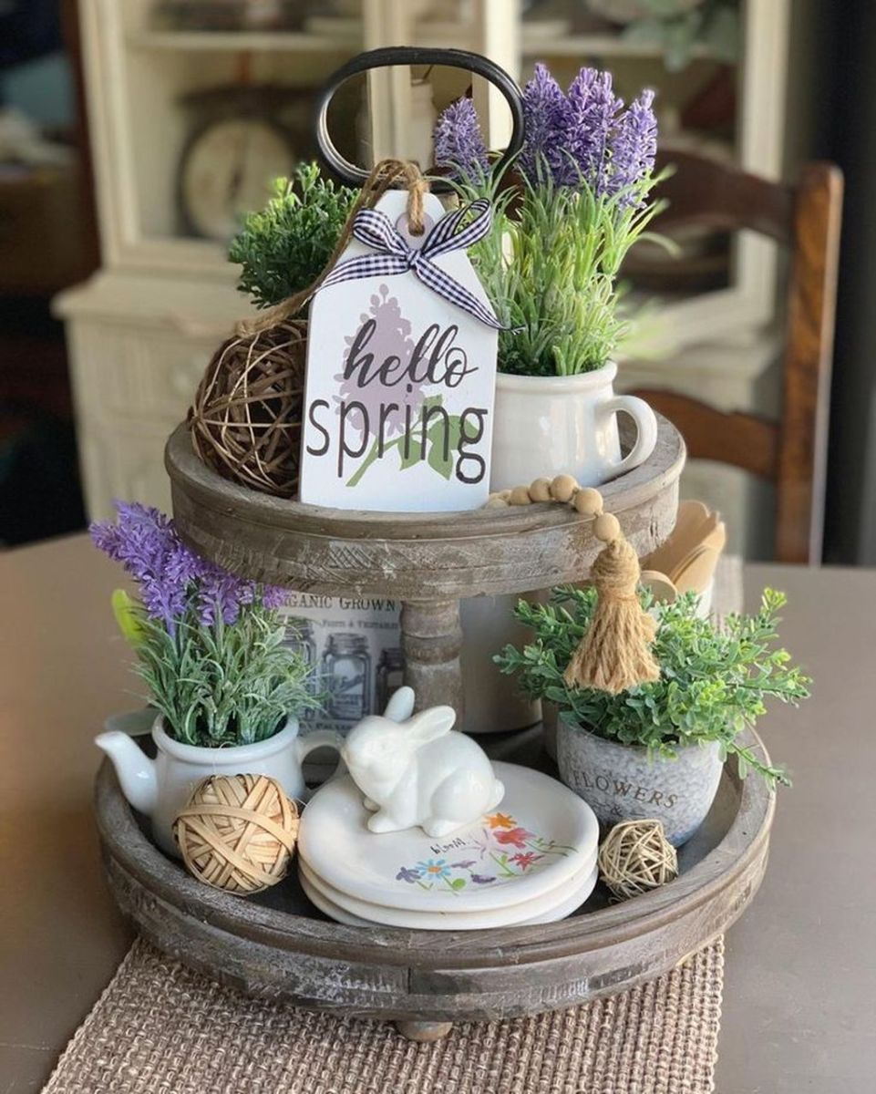 Beautiful Farmhouse Spring Table Decor Ideas 01