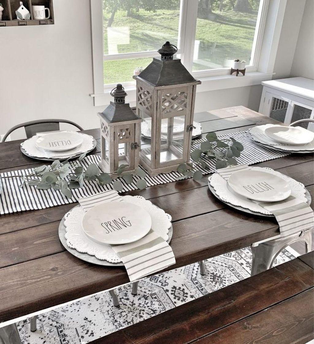 Beautiful Farmhouse Spring Table Decor Ideas 22