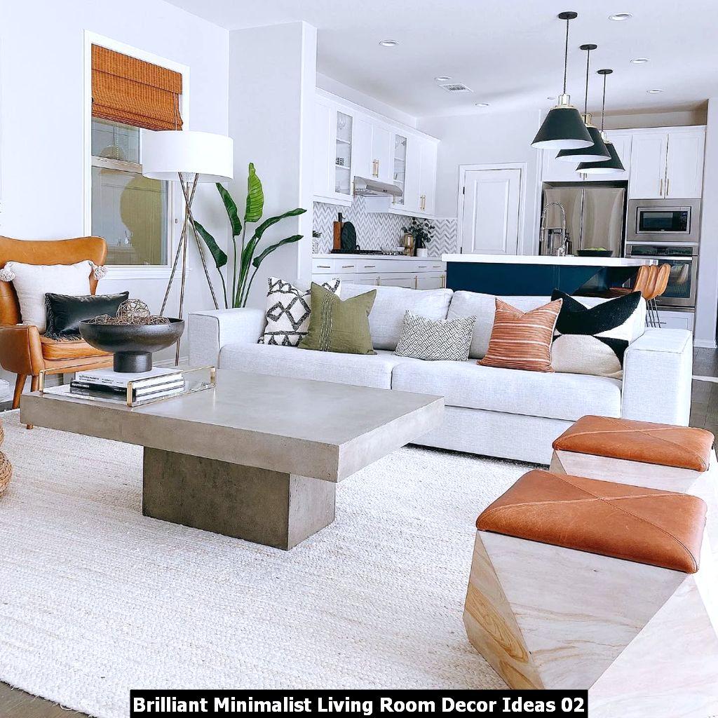 Brilliant Minimalist Living Room Decor Ideas 02