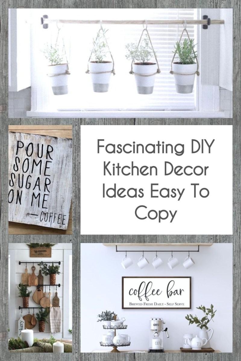 Fascinating DIY Kitchen Decor Ideas Easy To Copy