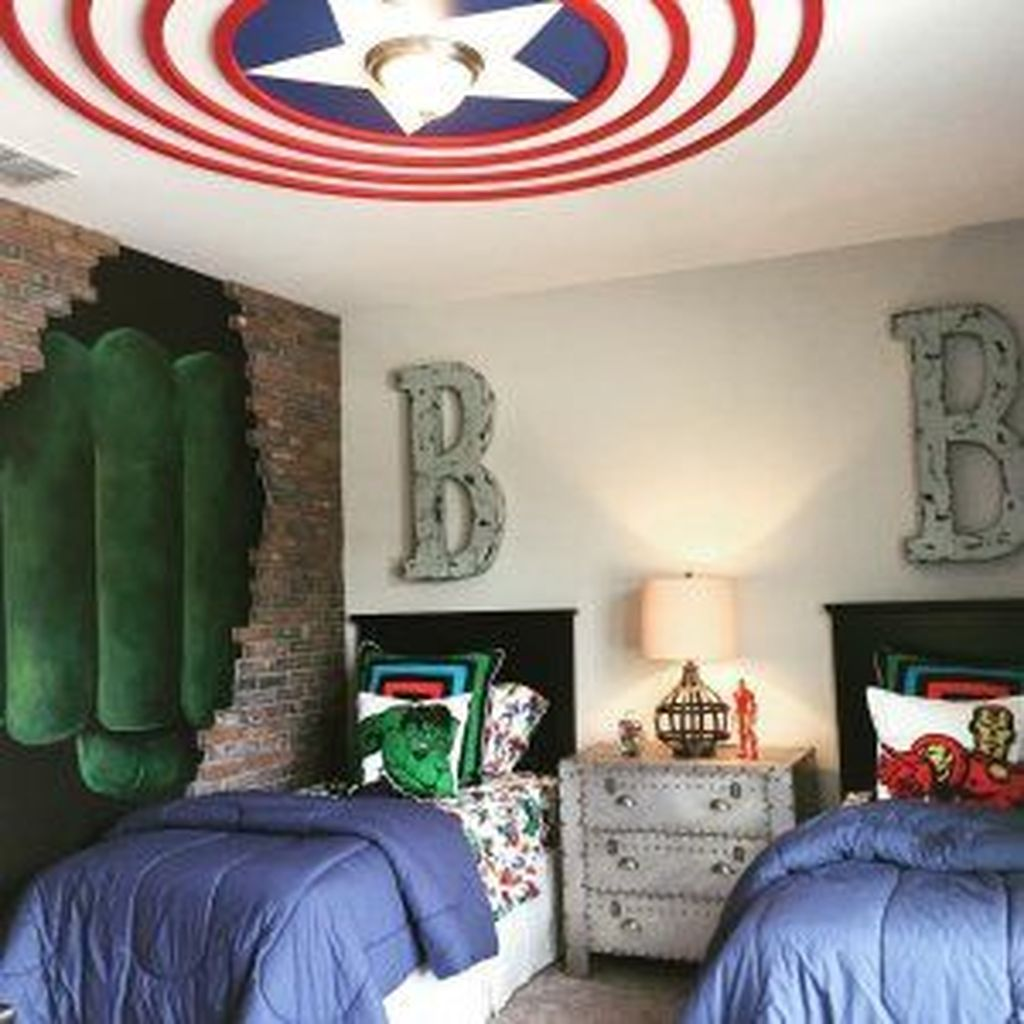 Fascinating Superhero Theme Bedroom Decor Ideas 01