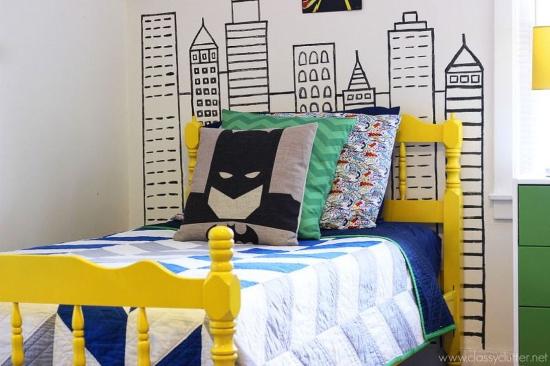 Fascinating Superhero Theme Bedroom Decor Ideas 32