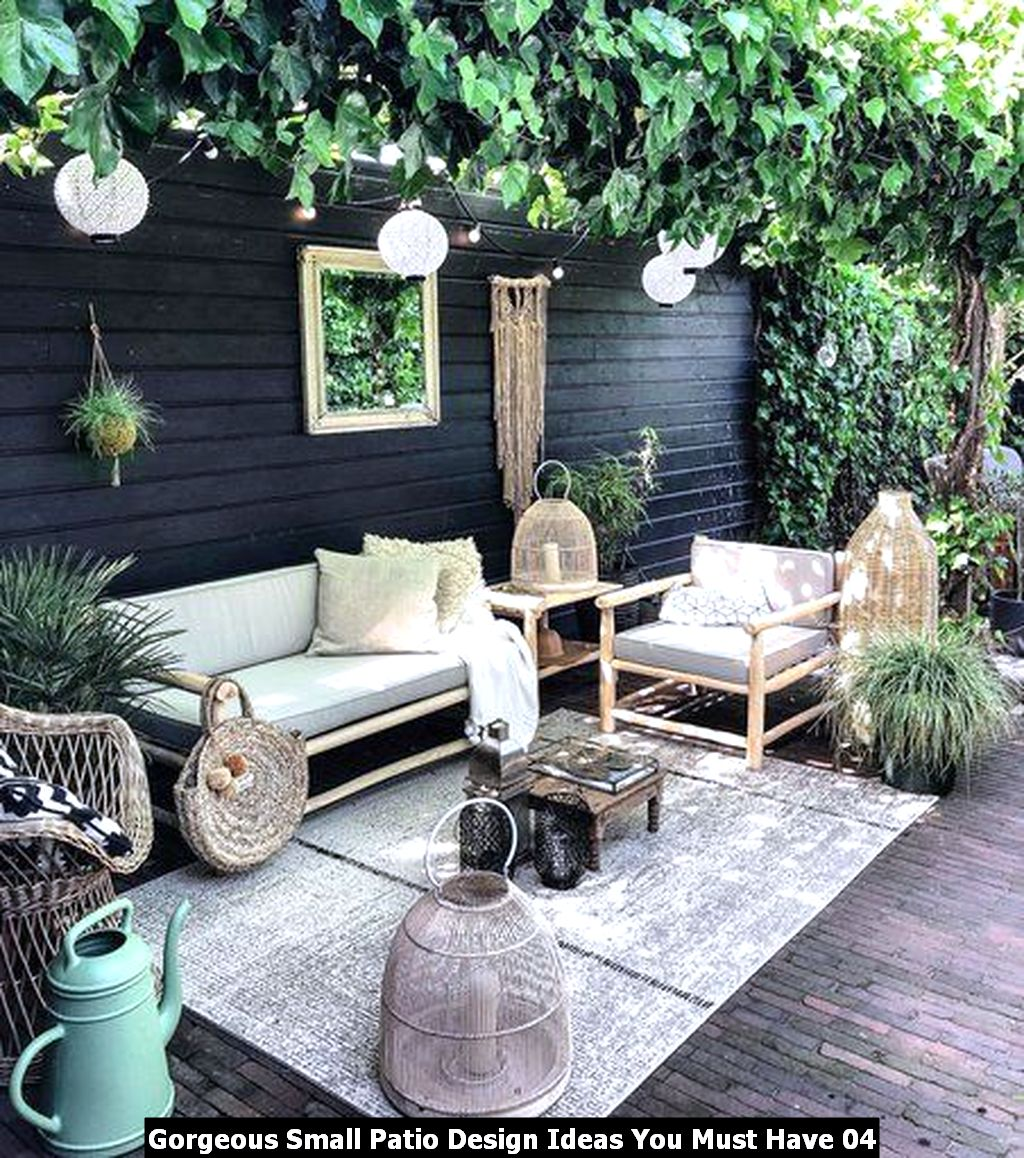 Gorgeous Small Patio Design Ideas You Must Have 04