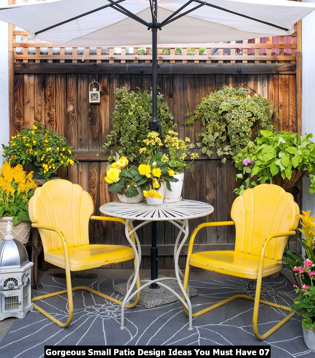 Gorgeous Small Patio Design Ideas You Must Have 07