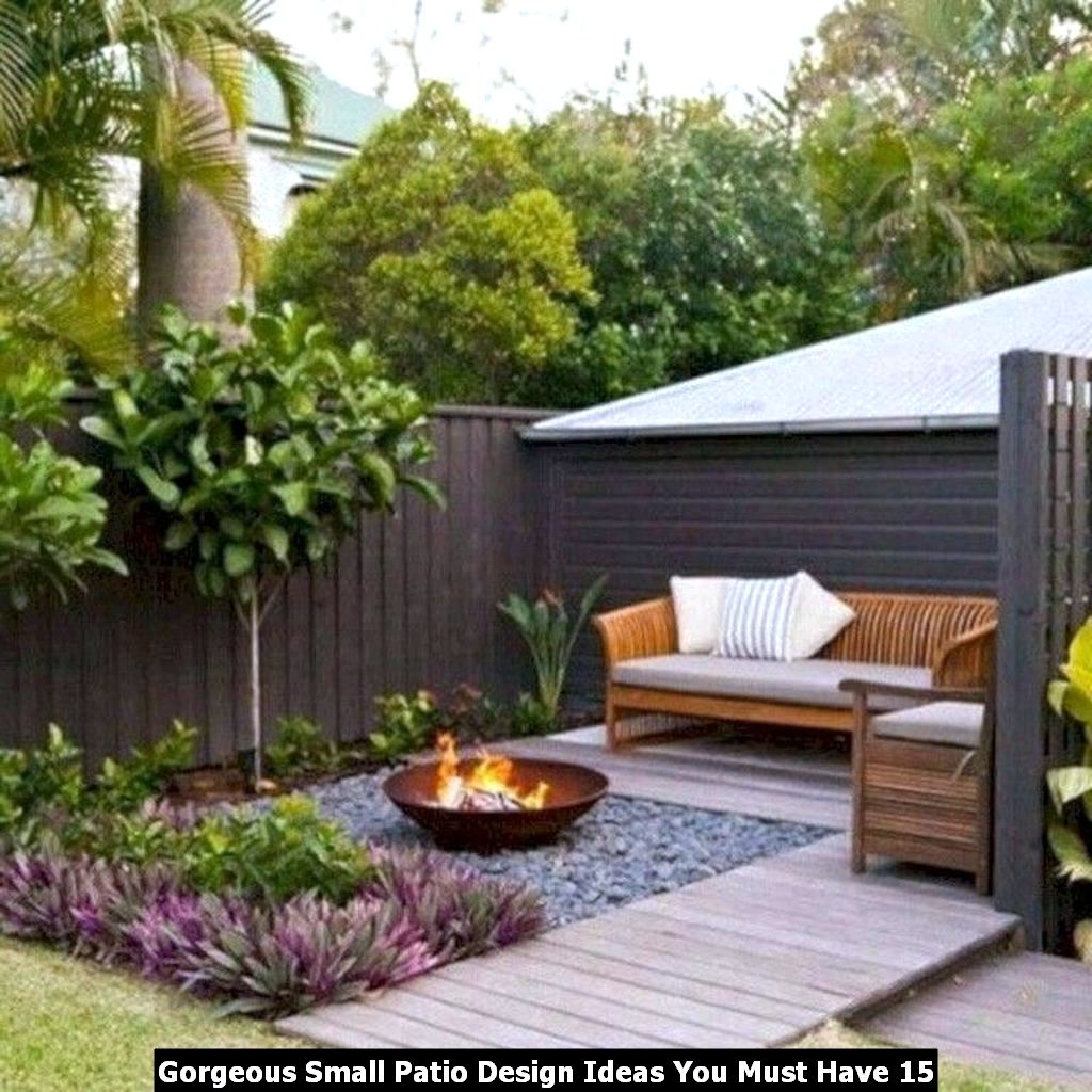 Gorgeous Small Patio Design Ideas You Must Have 15