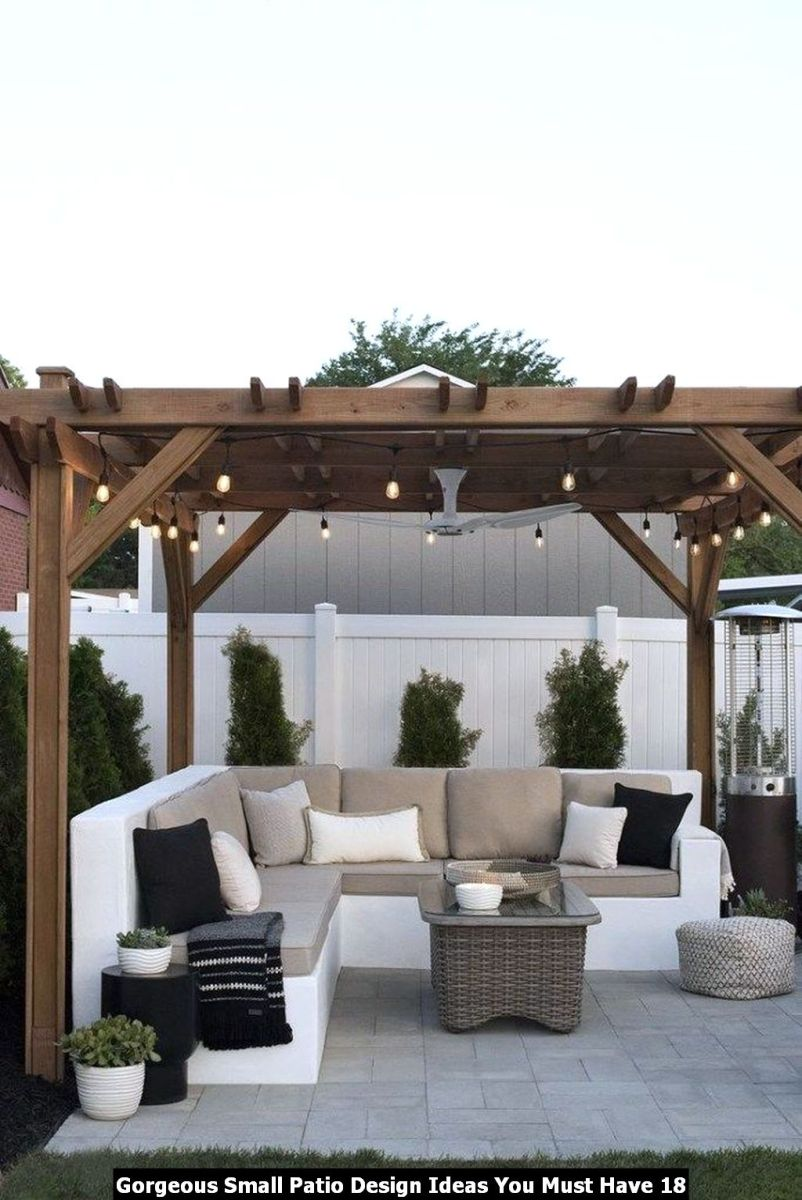Gorgeous Small Patio Design Ideas You Must Have 18