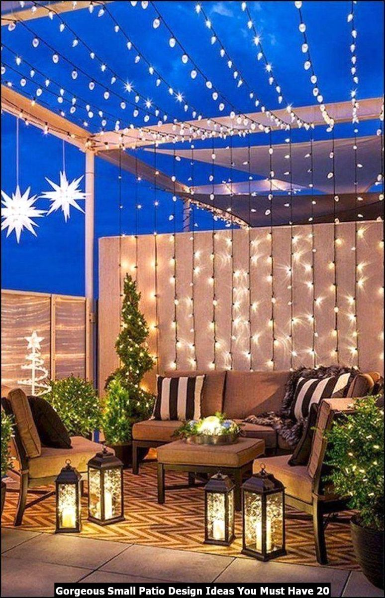 Gorgeous Small Patio Design Ideas You Must Have 20