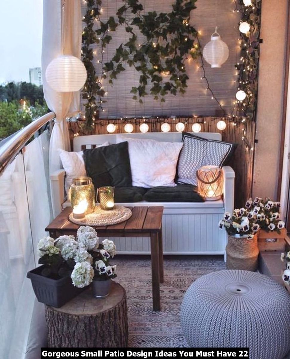 Gorgeous Small Patio Design Ideas You Must Have 22