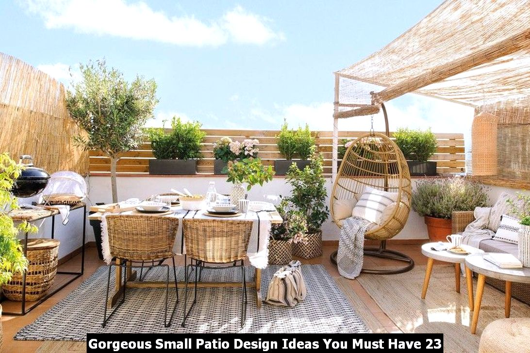 Gorgeous Small Patio Design Ideas You Must Have 23