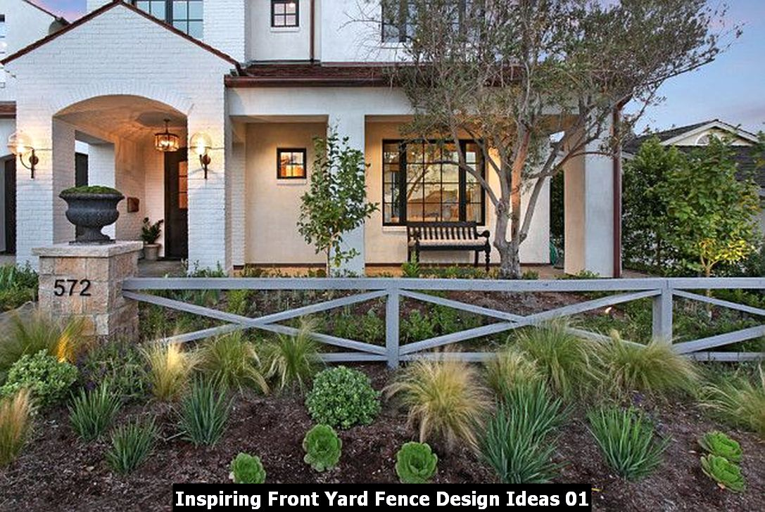Inspiring Front Yard Fence Design Ideas 01