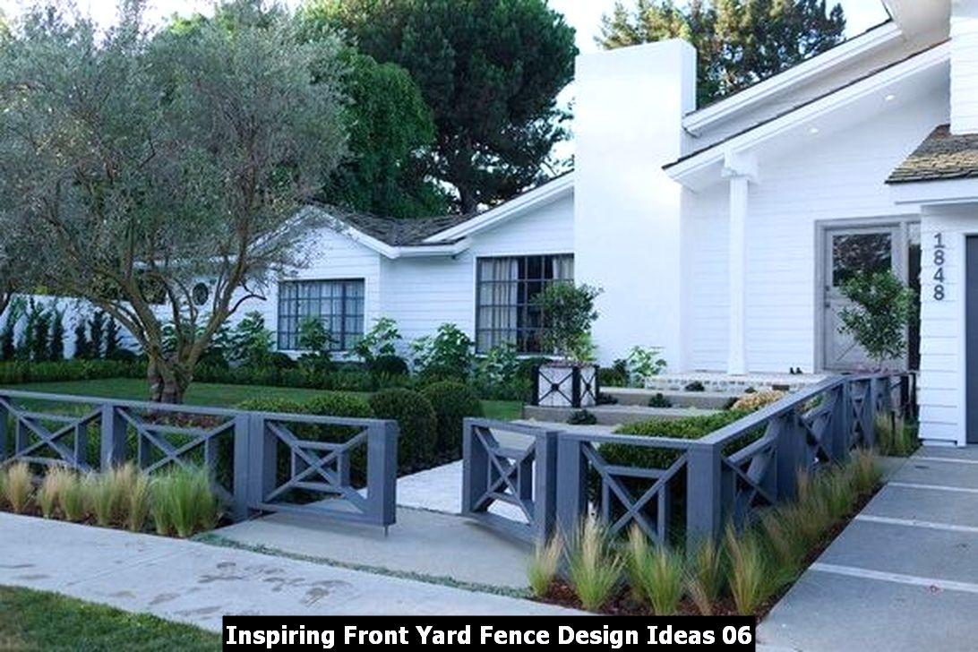 Inspiring Front Yard Fence Design Ideas 06