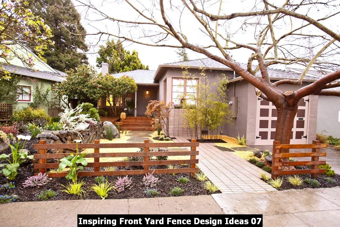 Inspiring Front Yard Fence Design Ideas 07