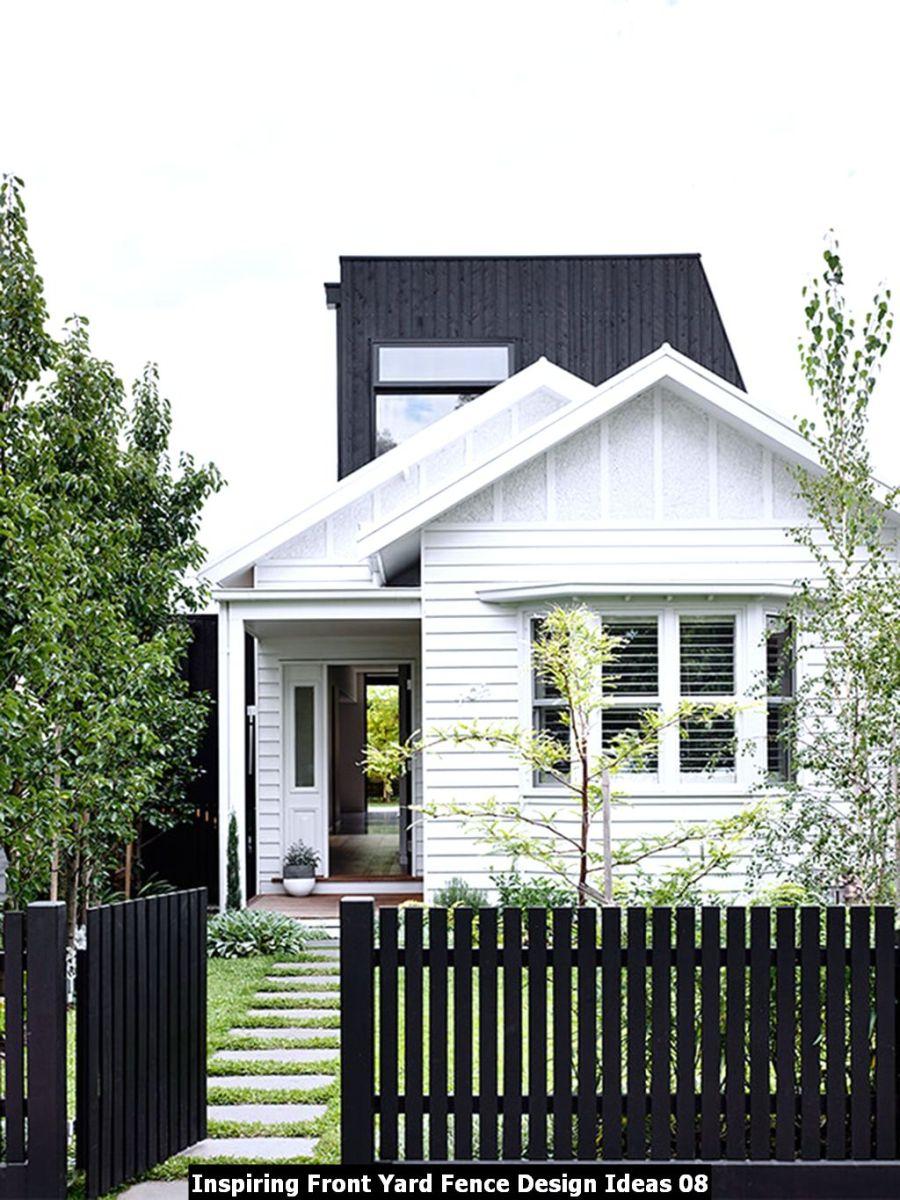 Inspiring Front Yard Fence Design Ideas 08