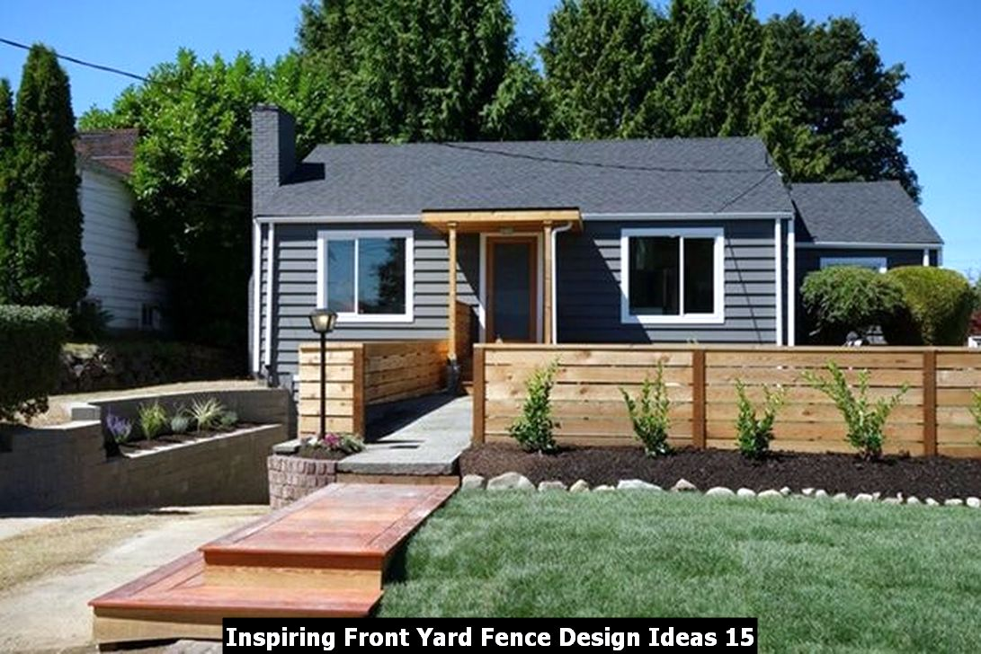 Inspiring Front Yard Fence Design Ideas 15