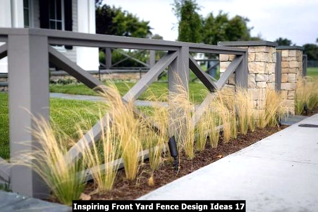Inspiring Front Yard Fence Design Ideas 17