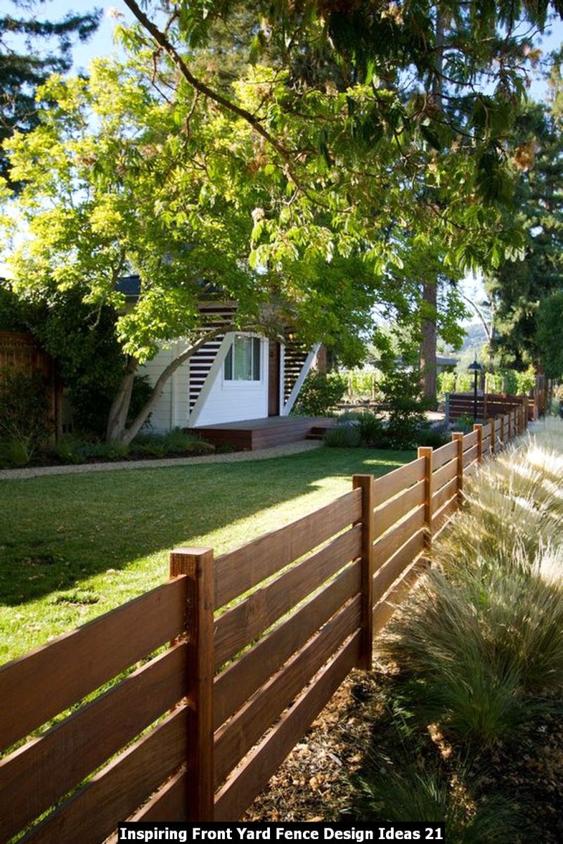 Inspiring Front Yard Fence Design Ideas 21