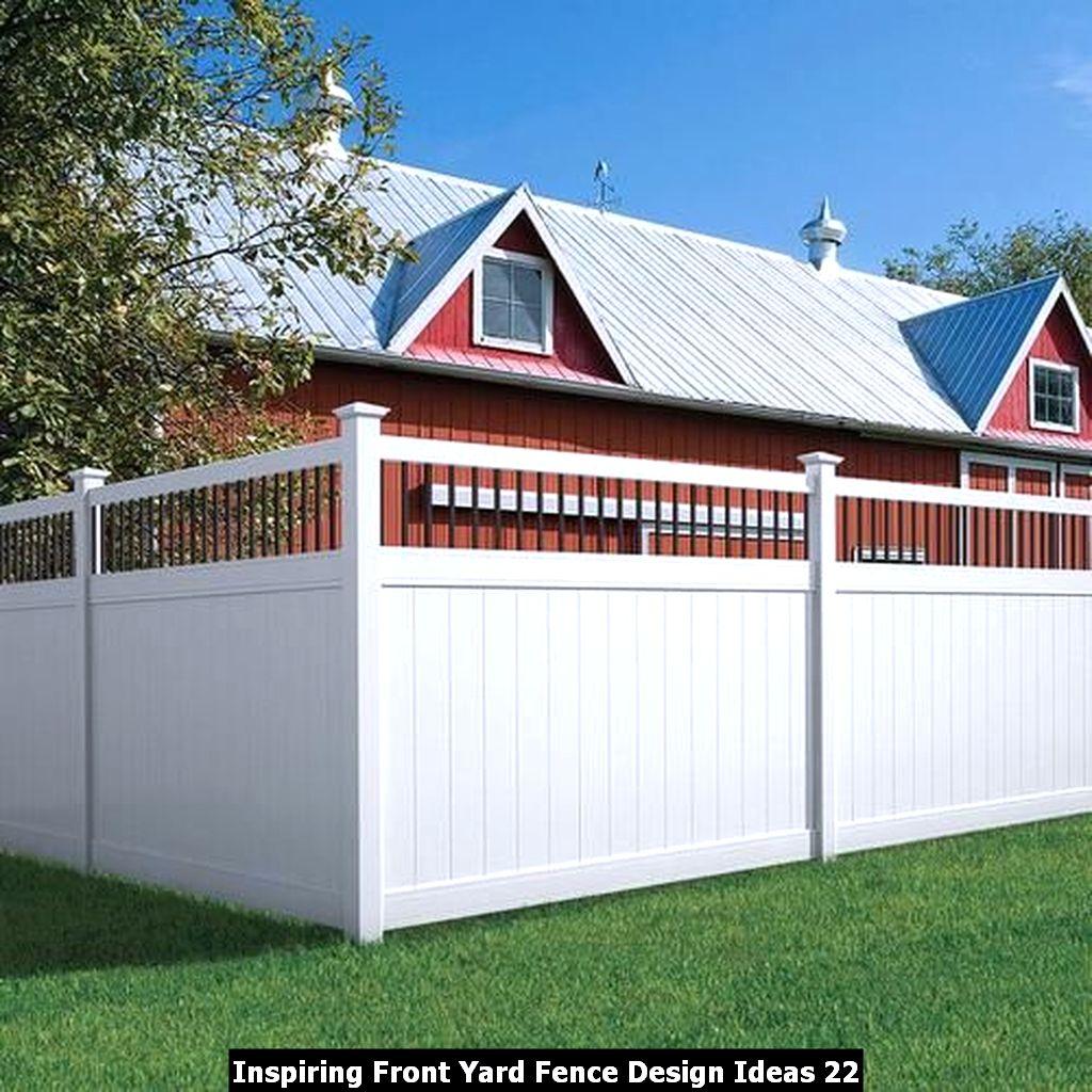 Inspiring Front Yard Fence Design Ideas 22