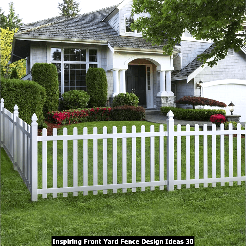Inspiring Front Yard Fence Design Ideas 30