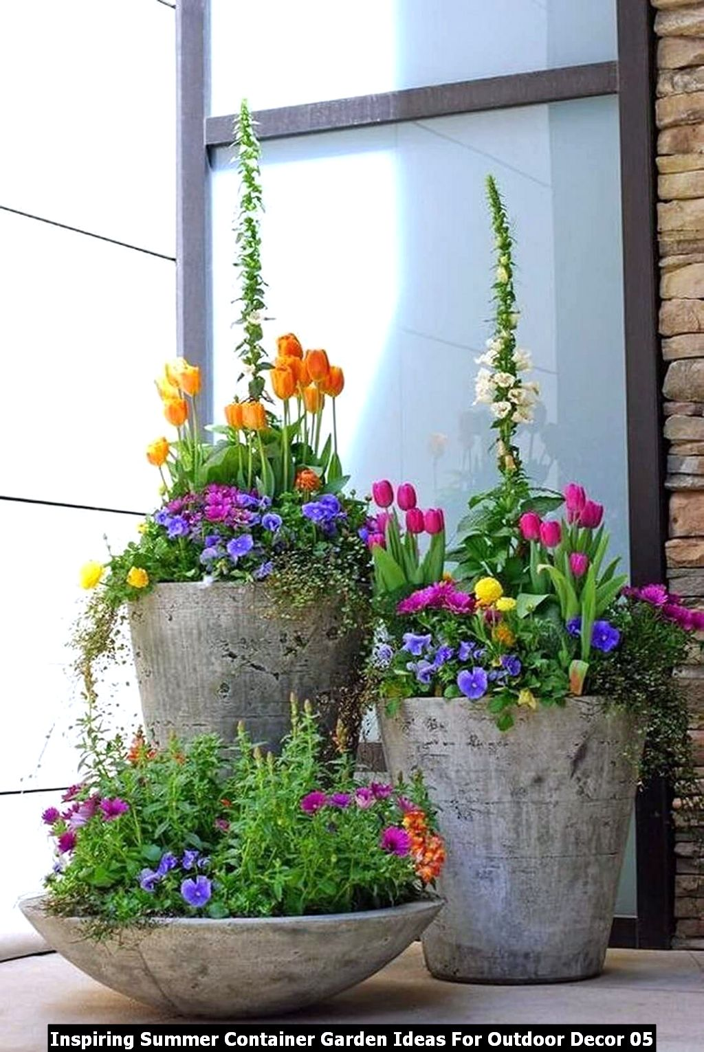 Inspiring Summer Container Garden Ideas For Outdoor Decor 05