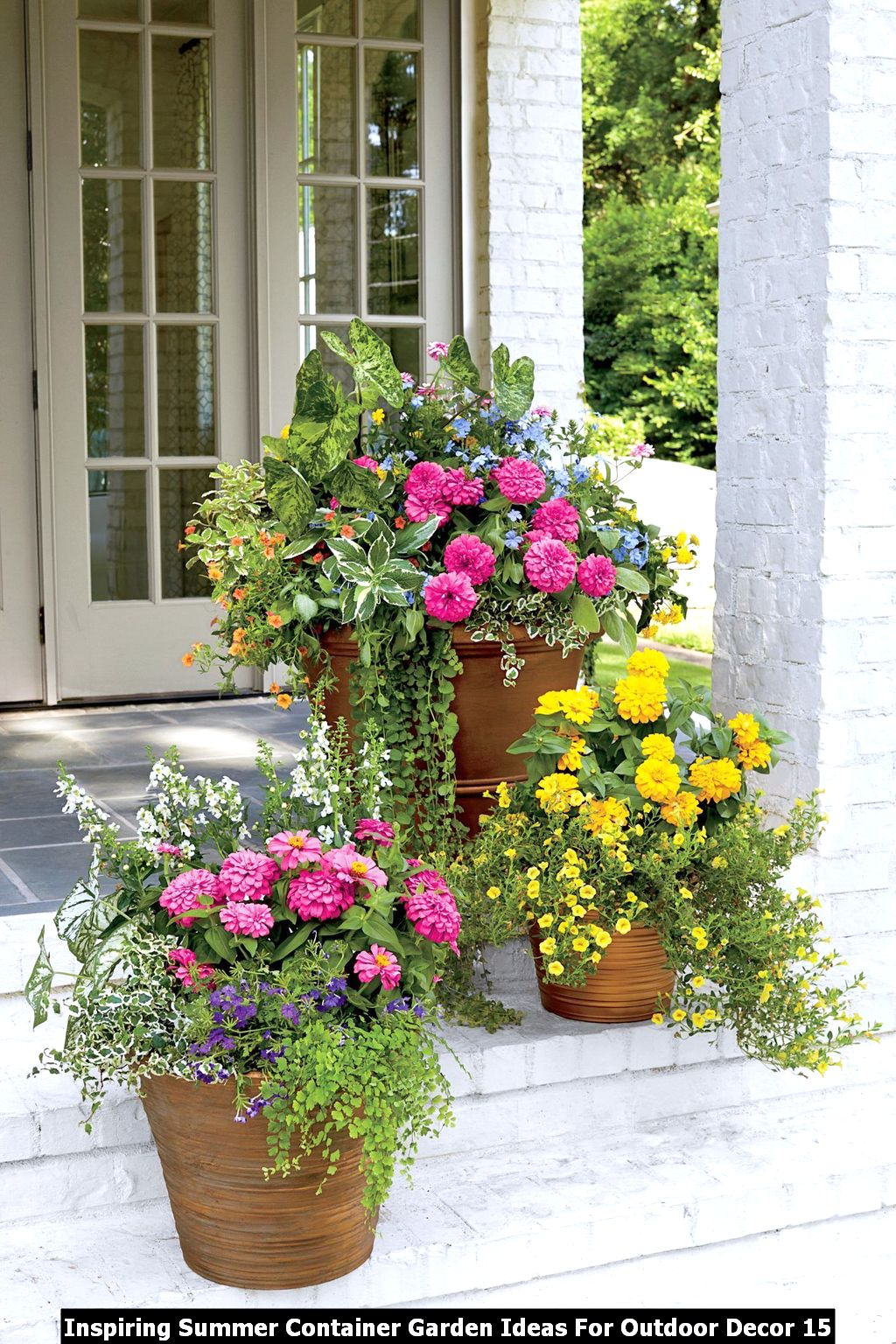 Inspiring Summer Container Garden Ideas For Outdoor Decor 15